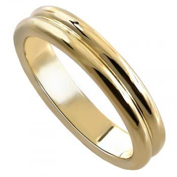 hand made wedding ring double rounded band