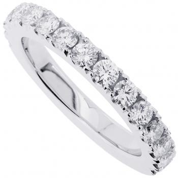 wedding band set with brilliant cut diamonds