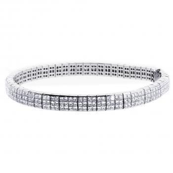 "tennis bracelet with ""invisible set"" princess cut diamonds"