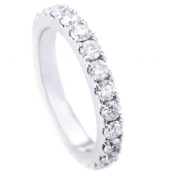 wedding band set with brilliant cut diamonds completely castel set