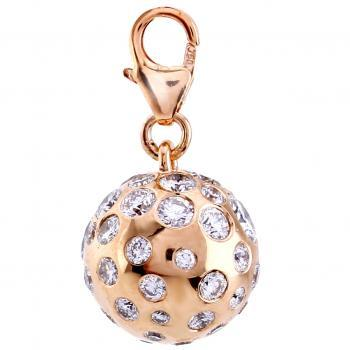 pendant bead at a lock set with brilliant cut diamondse