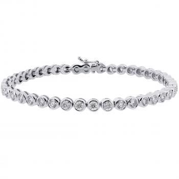 tennisbracelet brilliant cut diamonds