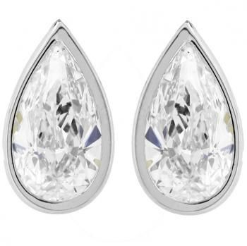 earrings with pearshaped diamonds and alpasysteem (Maatwerk)