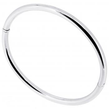 slim bangle with holow rounded profile and lock