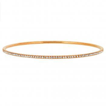 delicate bracelet, fully pavé set with brilliant cut diamonds
