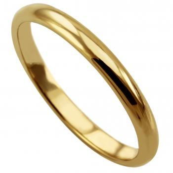 handmade rounded wedding ring flat with D profile inside