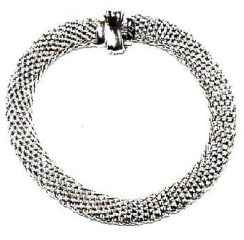 Collier 18kt whi fope flat fine