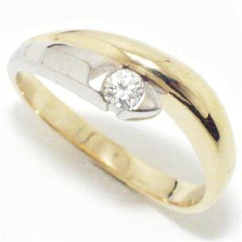 ring 18kt brilant solitaire