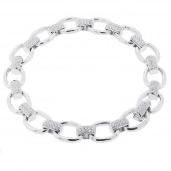 bracelet with links and brilliant cut diamonds