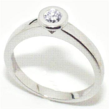 ring 18kt brilant solitair
