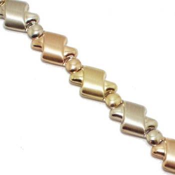 Collier 18kt 3 col