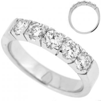 wedding ring 18kt diamond band brilliant square blokchatons