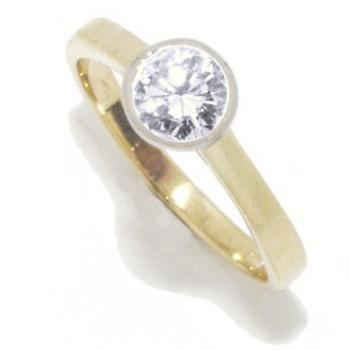ring solitair 18kt brilant