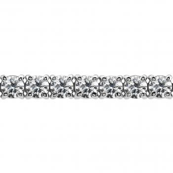 tennis bracelet or rivière partly set with brilliant cut diamonds set with claws or prongs