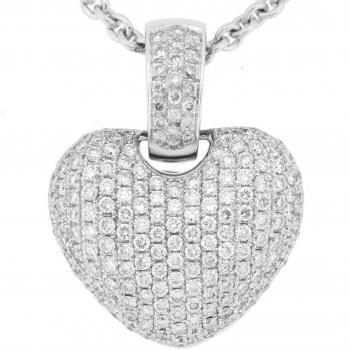 pavé heart briliant with larger clasp