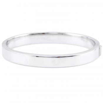 slim wide bangle slightly with a rectangular hollow profile