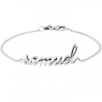 Bracelet with a nameplate