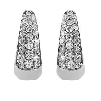 drop shaped pavé creole earrings pavé set with brilliant cut diamonds