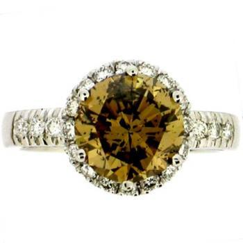 solitaire 18kt 2,75ct natural brown