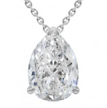 solitaire pendant with pear shaped diamond