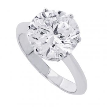solitaire ring with a brilliant cut diamond