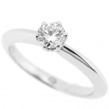solitaire ring brilliant lower tif setting on a slighly heavier band