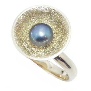 ring 18kt parel