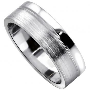 handmade wedding ring  with an engraving at one third of the edge
