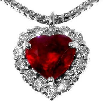 entourage pendant 18kt for heart