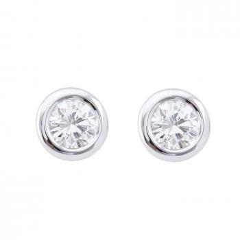 earrings rondel sputnik small donut brilliant cut diamond