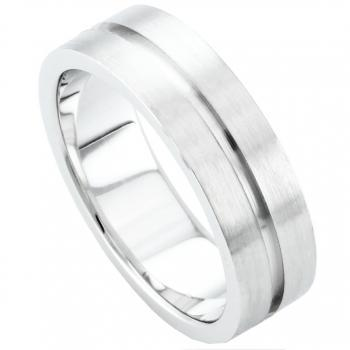 handmade wedding ring  with an engraving or gutter