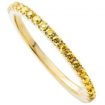alliance ring gezet met fancy vivid yellow briljant geslepen diamanten