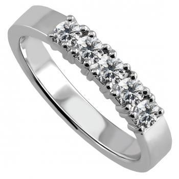 handmade wedding ring or band with brilliant cut diamonds set with four claws per diamond