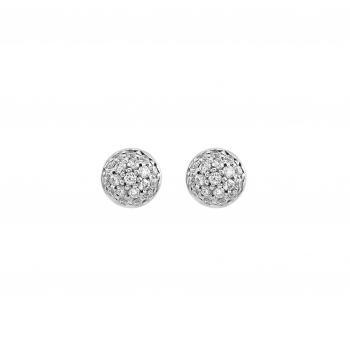 pavéearrings small half beads set with brilliant cut diamonds