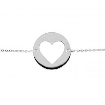 Bracelet rolo with heartshape cut out of plate