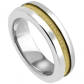 wedding ring 18kt wide with central channel, 6mm wide and 3mm high