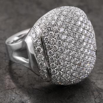 pavé ring Chimento with brilliant cut diamonds high and very rounded