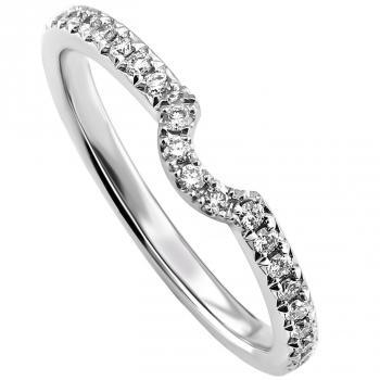 wedding band castle set with brilliant cut diamonds and with a small curve to match engagement ring  RG0903CUS/35