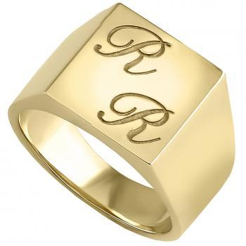 men's ring sharp and massive with initials