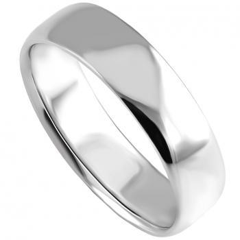 lower wedding band ring slightly rounded on the inner and outside (light and lower oval profile)