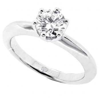 solitaire ring brilliant 6 prongs