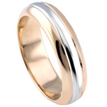 ring wedding band slightly rounded three bands ring