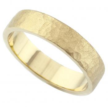 wedding ring hand made with a slim rectangular profile