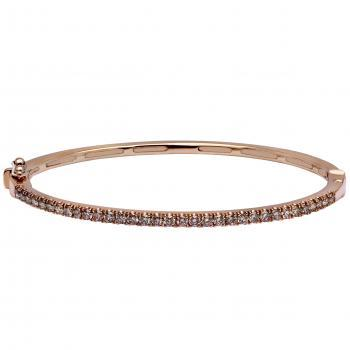 esclave bracelet with castle set natural champaign brown brilliant cut diamonds
