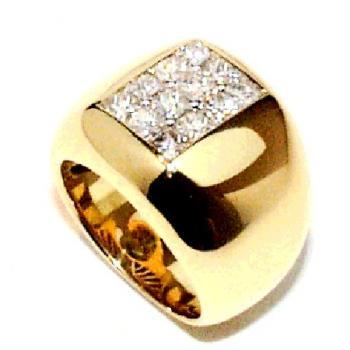 ring 18kt princess-cut