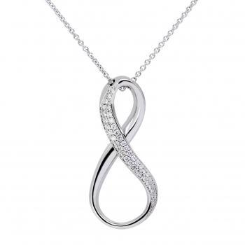 necklace with Infinitiv logo pavé set in front with brilliant cut diamonds (inclusive chain)
