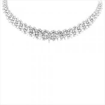 Collier 18kt briljant & fantasie diamant