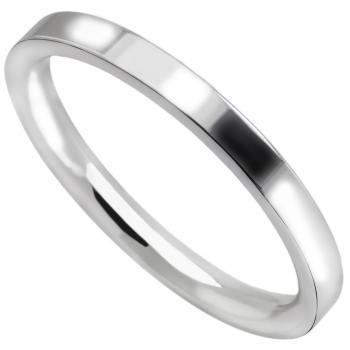 wedding ring flat outside, slightly rounded insde (flat court profile)