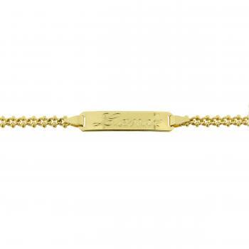 babybracelets 18kt with name plate