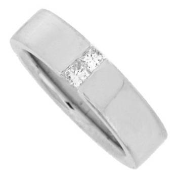 ring 18kt princess-cut tension set with brug